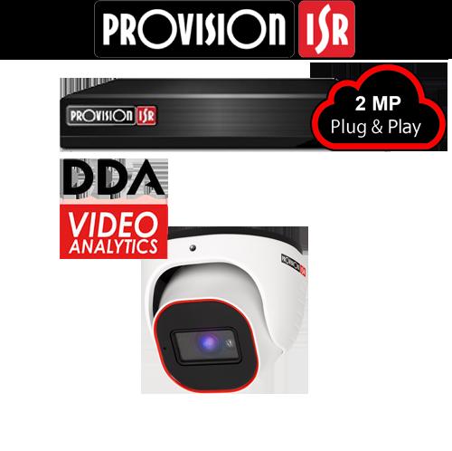 2MP Systeem met 1 Turret DDA analytics camera
