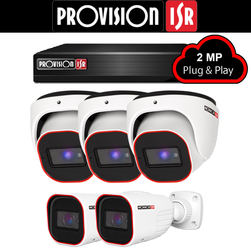 2MP Systeem met 3 Turret en 2 Bullet camera's