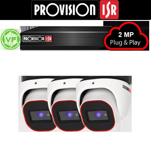 2MP Systeem met 3 Turret varifocal camera's