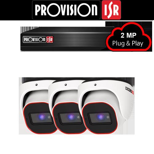 2MP Systeem met 3 Turret camera's