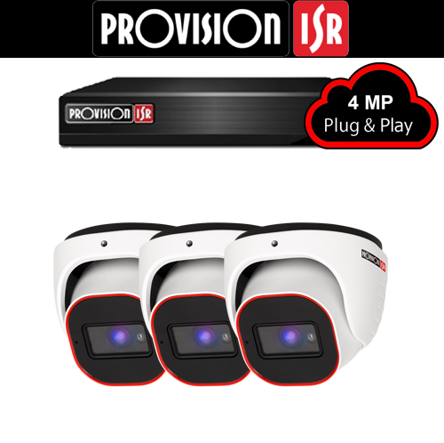 4MP Systeem met 3 Turret camera's