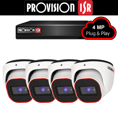 4MP Systeem met 4 Turret camera's