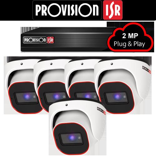 2MP Systeem met 5 Turret camera's