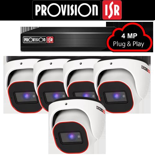4MP Systeem met 5 Turret camera's