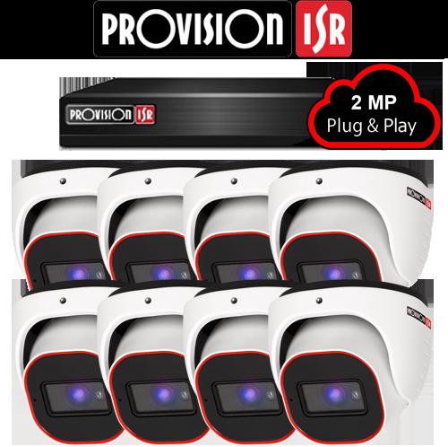 2MP AHD camerasysteem met 8 Turret camera's