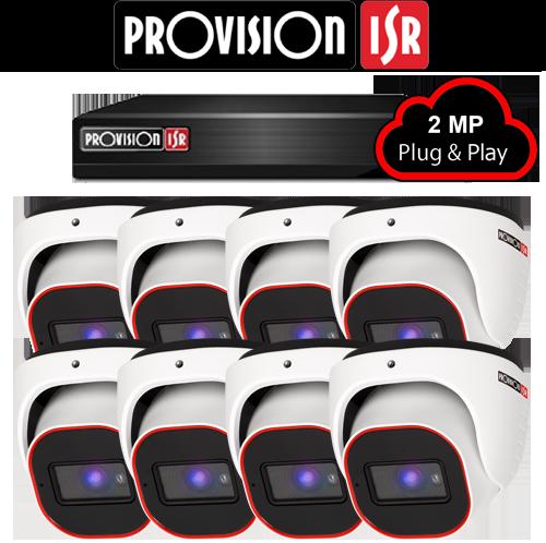 2MP Systeem met 8 Turret camera's