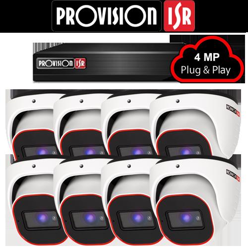 4MP Systeem met 8 Turret camera's