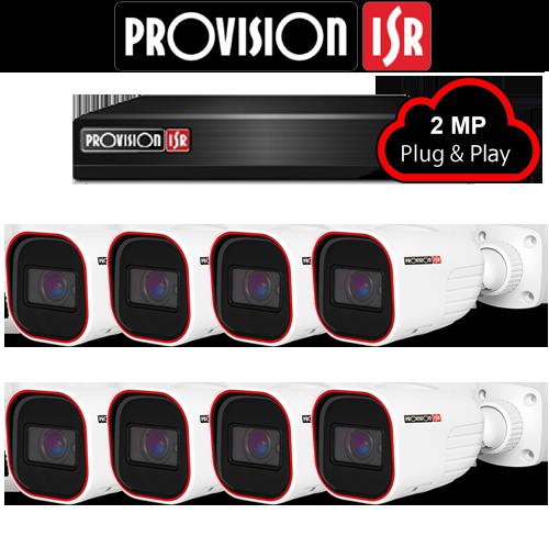 2MP Systeem met 8 Bullet camera's