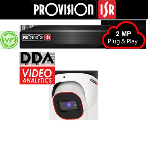 2MP Systeem met 1 Turret DDA analytics varifocal camera