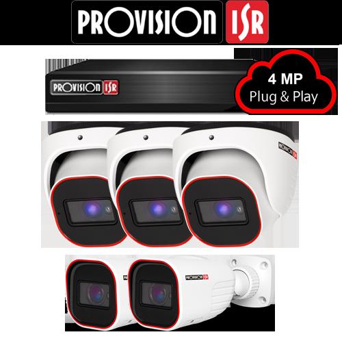 4MP Systeem met 3 Turret en 2 Bullet camera's